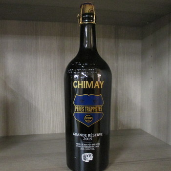 Trappist Chimay blauw 75cl op hout gerijpt cuvee barrique 2021